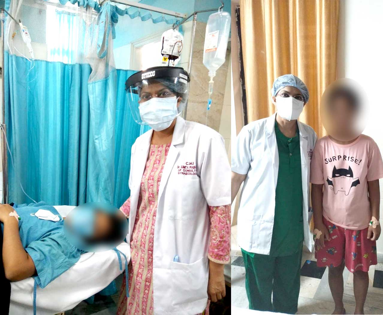 Dr Sumita Prabhakar removed 15 fibroid from a young girl,