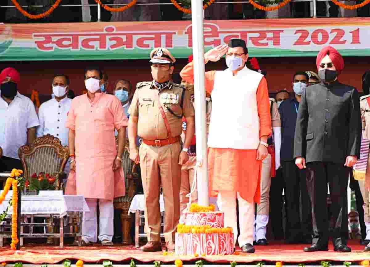 pushkar singh dhami flag hosting
