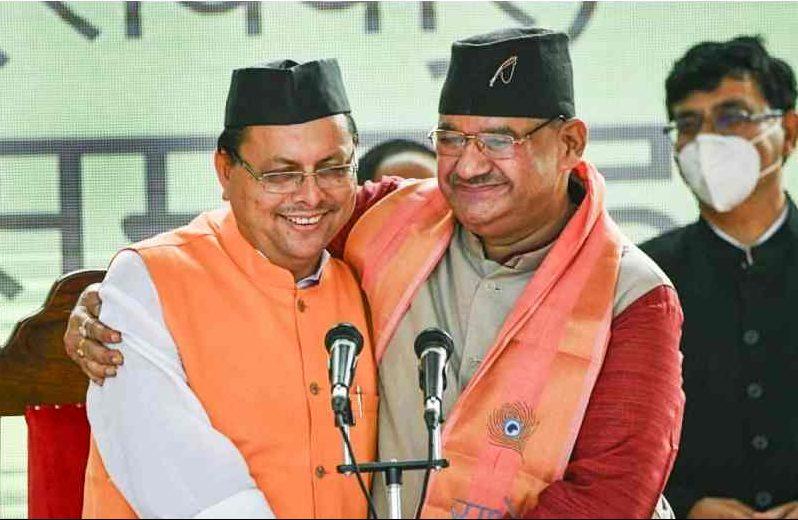 pushkar singh dhami and ganesh joshi